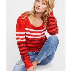 Free People | Sweater Complete Me Striped Size L